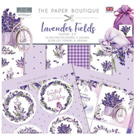 Papier scrapbooking Paper Boutique Lavender fields Paper kit