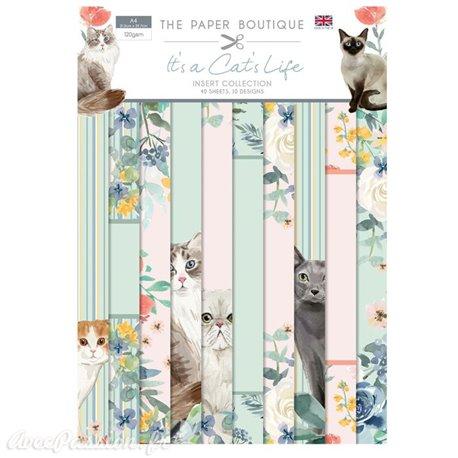 Papier scrapbooking Paper Boutique A4 It's a cat's life insert collection