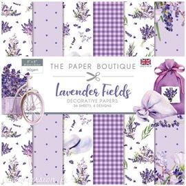 Papier scrapbooking Paper Boutique Lavender fields 20x20cm Paper pad