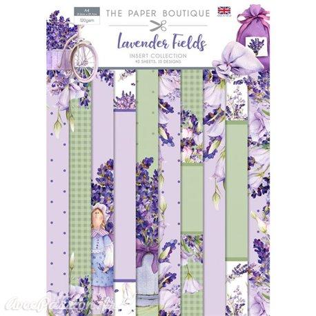 Papier scrapbooking Paper Boutique Lavender fields Insert Collection