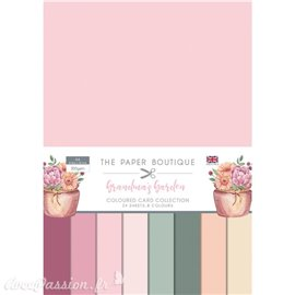 Papier scrapbooking Paper Boutique Grandma's garden colour card collection