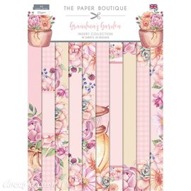 Papier scrapbooking Paper Boutique Grandma's garden insert collection