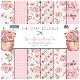 Papier scrapbooking Paper Boutique Grandma's garden 20x20cm paper pad