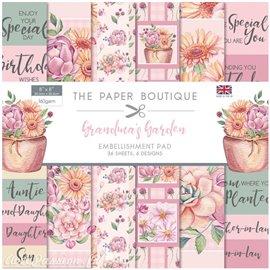 Papier scrapbooking Paper Boutique Grandma's garden 20x20cm embellishments pad