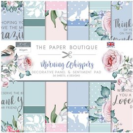 Papier scrapbooking Paper Boutique Morning whispers 20x20cm