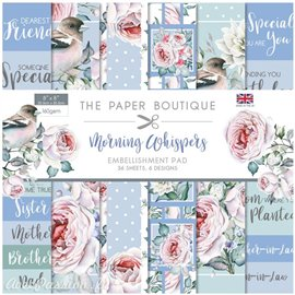 Papier scrapbooking Paper Boutique Morning whispers 20x20cm