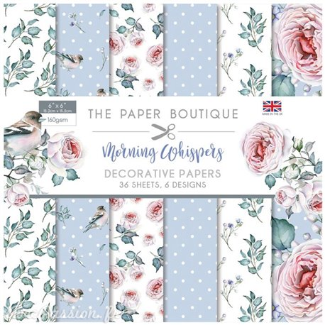 Papier scrapbooking Paper Boutique Morning whispers 15x15cm
