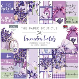 Papier scrapbooking Paper Boutique pad Lavender fields 20x20cm Embellishments pad