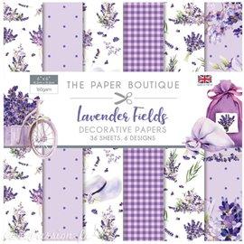 Papier scrapbooking Paper Boutique pad Lavender fields 15x15 Paper pad