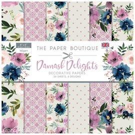 Papier scrapbooking Paper Boutique Pad Damask delights paper pad