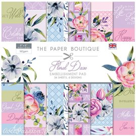 Papier scrapbooking Paper Boutique Floral daze 20x20cm