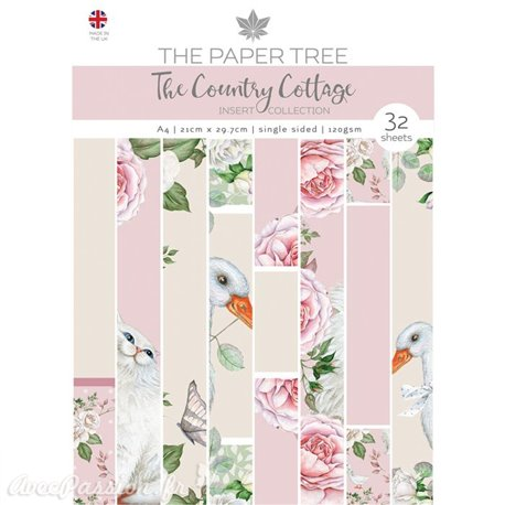 Papier scrapbooking The Paper Tree The country cottage insert collection