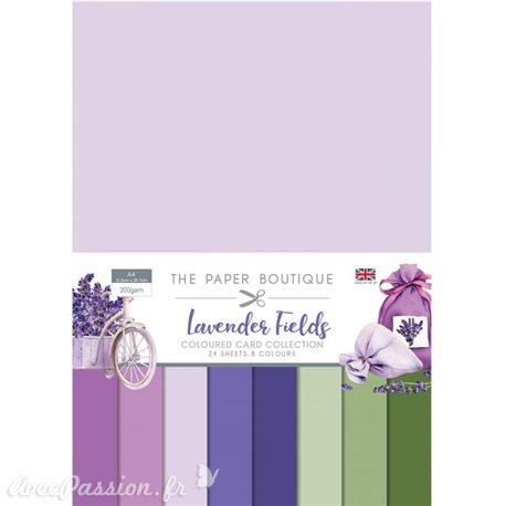 Papier scrapbooking Paper Boutique Lavender fields Colour card collection