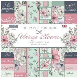 Papier scrapbooking Paper Boutique Embellishments pad Vintage blooms