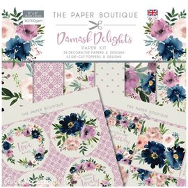 Papier scrapbooking Paper Boutique Damask delights paper kit