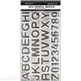 Moule décoratif silicone Stamperia Alphabet 19.3x35.5