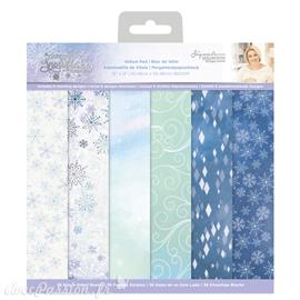 Papier scrapbooking 30x30 assortiment Glittering Snowflakes Vellum36f