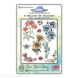Tampon clear stamps The Card Hut Floral Splash