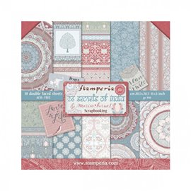 Papier scrapbooking assortiment Stamperia 10f recto verso 20x20 Lady Vagabond