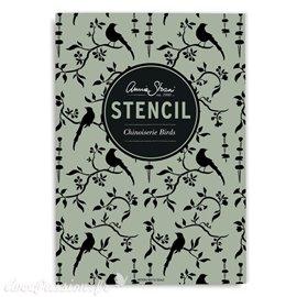 Pochoir décoratif Annie Sloan Chinoiserie Birds Stencil A3 Design