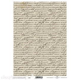 Papier scrapbooking sur papier calque A4 vieilles lettres manuscrites