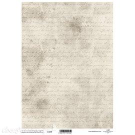 Papier scrapbooking sur papier calque A4 ancienne écriture