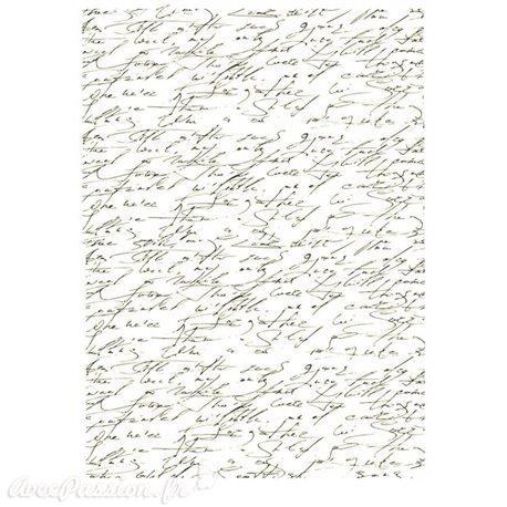 Papier scrapbooking sur papier calque A4 écriture manuscrite