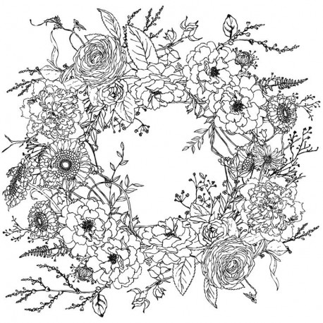 Transfertpelliculable IOD Winter's Song Wreath 4 feuilles 30x40