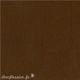 Papier scrapbooking Bazzill Canvas 30x30cm 1fe uni Chocolate