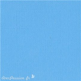 Papier scrapbooking Bazzill Canvas 30x30cm 1fe uni Ocean