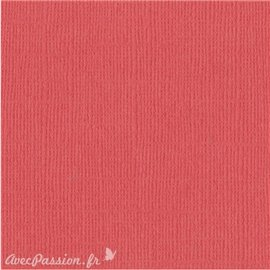 Papier scrapbooking Bazzill Canvas 30x30cm 1fe uni Flamingo