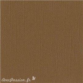 Papier scrapbooking Bazzill Canvas 30x30cm 1fe uni Walnut