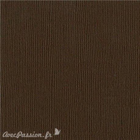 Papier scrapbooking Bazzill Canvas 30x30cm 1fe uni Brown