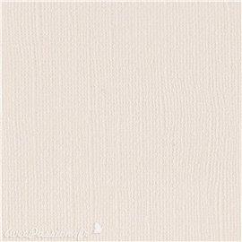 Papier scrapbooking Bazzill Canvas 30x30cm 1fe uni Vanilla
