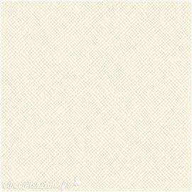 Papier scrapbooking Bazzill Canvas 30x30cm 1fe uni Cream Puff