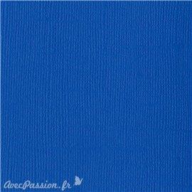 Papier scrapbooking Bazzill Canvas 30x30cm 1fe uni Bazzill Blue
