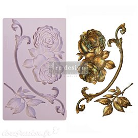 Moule ReDesign en silicone flexible Victorian Rose