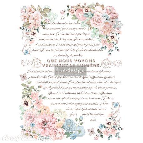 Transfert pelliculable Redesign Pure Light Floral 61x89cm