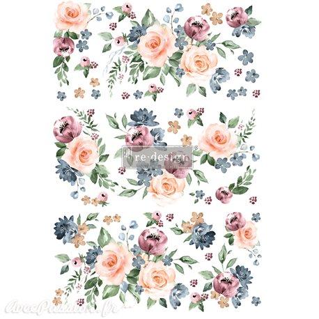 Transfert pelliculable Redesign Watercolor Bloom 61x89cm