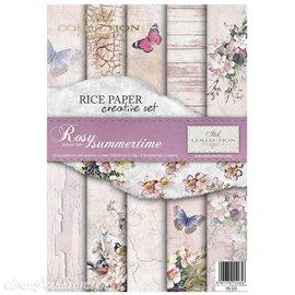 Kit créatif 13 papier de riz + 2 pochoirs + 5 foil //