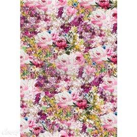 Papier de riz Redesign 41x29cm Fuchsia meadow