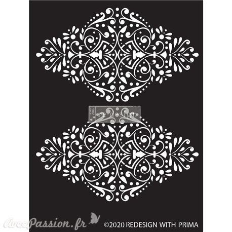 "Pochoir décoratif Redesign Dotted Flourish - 9""x13.5"" 0.8mm"