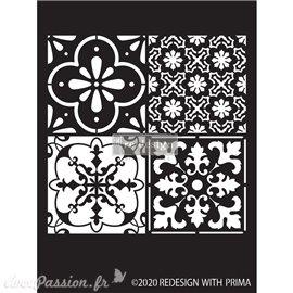 """Pochoir décoratif Redesign Coastal Tile - 9""""x13.5"""", 0.8mm"""