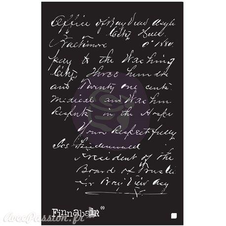 "Pochoir décoratif Finnabair read my letter 6"" x 9"""