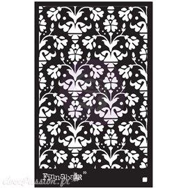 "Pochoir décoratif Finnabair vintage wallpaper 6"" x 9"""