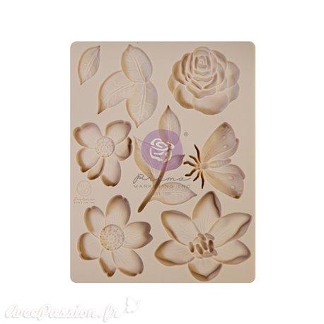 Moule silicone Prima watercolor floral