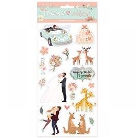 Chipboard achésif en carton Love Story