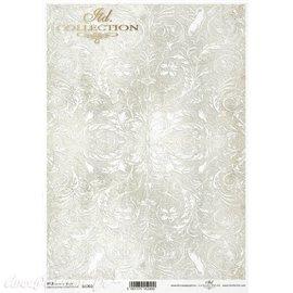 Papier de riz fond arabesque A4