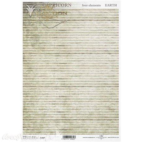Papier de riz rayures vintage A4