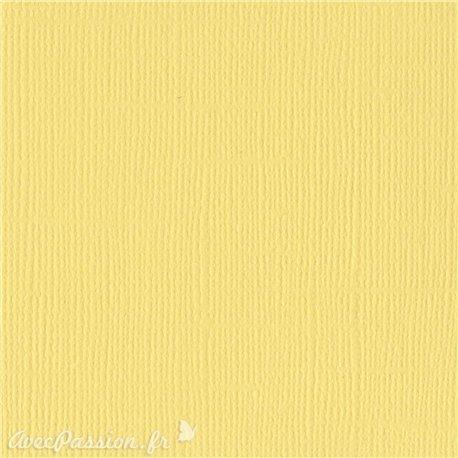 Papier scrapbooking Bazzill Canvas 30x30cm 1fe uni Lemonade